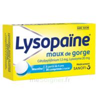 LysopaÏne Comprimés à Sucer Maux De Gorge Sans Sucre 2t/18 à BORDEAUX