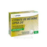 Citrate De Bétaïne Upsa 2 G Comprimés Effervescents Sans Sucre Menthe édulcoré à La Saccharine Sodique T/20 à BORDEAUX