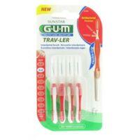 Gum Trav-ler 4 Brossettes Rouge Interdentaires 0.8mm à BORDEAUX