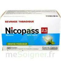 Nicopass 2,5 Mg Pastille Menthe Fraîcheur Sans Sucre Plq/96 à BORDEAUX