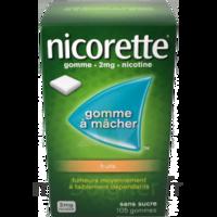 Nicorette 2 Mg Gomme à Mâcher Médicamenteuse Sans Sucre Fruits Plq/30 à BORDEAUX