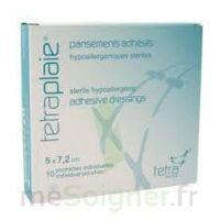 Tetraplaie Pansement Adhésif Stérile 5x7,2cm Pochette/10 à BORDEAUX