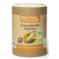 Nat&form Eco Responsable Curcuma + Pipérine Bio Gélules B/90 à BORDEAUX